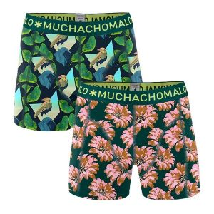 2-pack shorts digital nature_Blauw