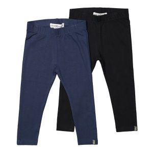 2-pack zwart blauw legging_Zwart