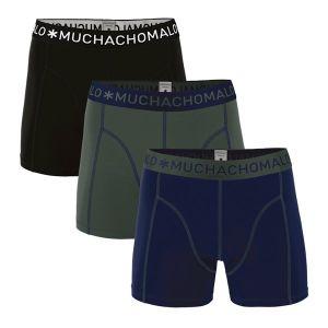3-pack solid boxershort_Zwart