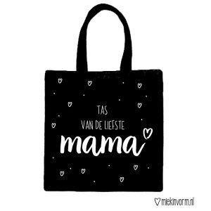 Liefste mama tas_Zwart