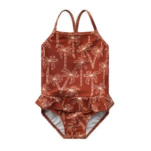 Palmtrees swimsuit_Rood
