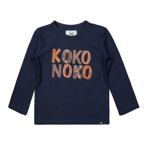 Shirt KN letters_Blauw
