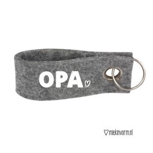 Sleutelhanger Opa_Grijs
