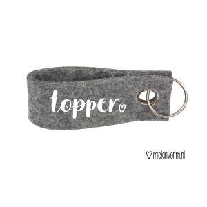 Sleutelhanger Topper_Grijs