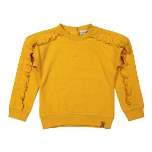 Sweater ruches_Geel